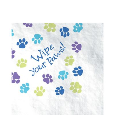 Party Pups Lunch Napkins 16ct