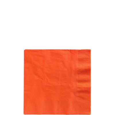 Orange Beverage Napkins 50ct