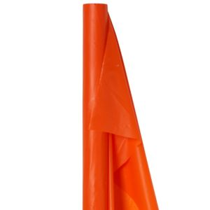 Big Party Pack Orange Plastic Table Cover Roll