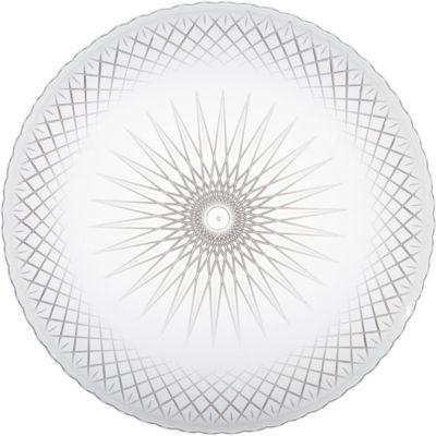 CLEAR Plastic Crystal Cut Platter