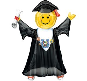 Giant Smiley Graduate Graduation Balloon