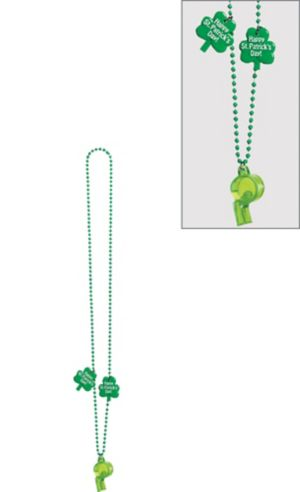 St. Patrick's Day Whistle Necklace
