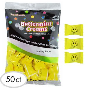Smiley Face Pillow Mints 50ct