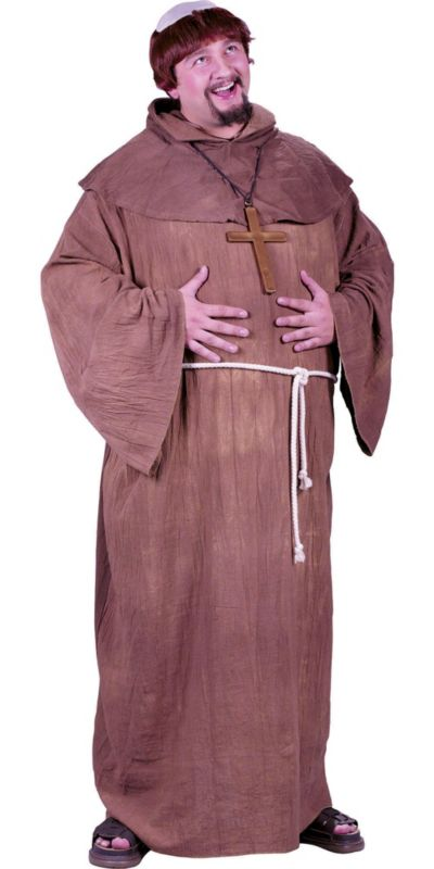Adult Medieval Monk Costume Plus Size