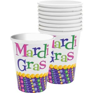 Mardi Gras Celebration Cups 8ct