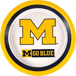 Michigan Wolverines Lunch Plates 10ct