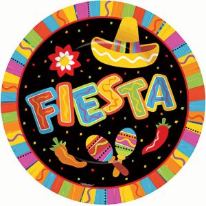 Bright Fiesta Dinner Plates 8ct