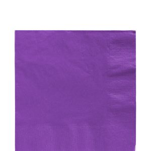 Purple Lunch Napkins 50ct