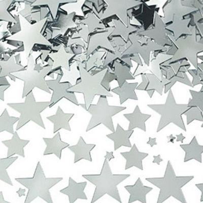 Metallic Silver Star Confetti