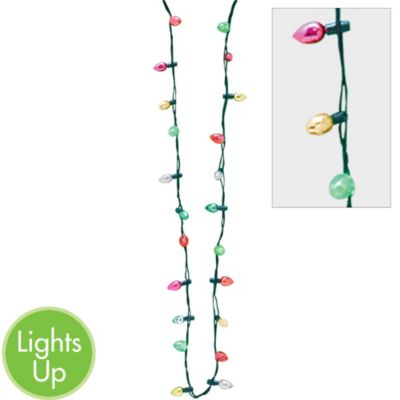 Light-Up Holiday Bulb Necklace