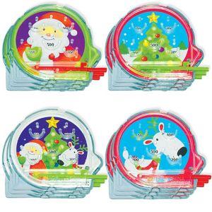 Christmas Mini Pinball Games 12ct