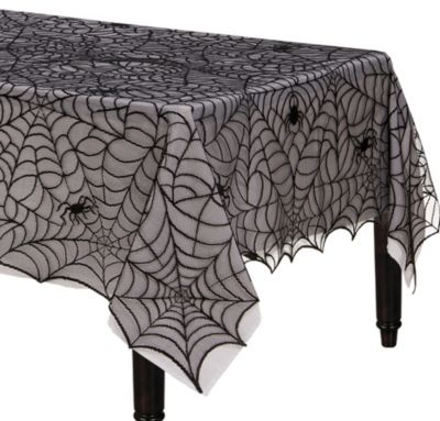 Midnight Lace Fabric Table Cover