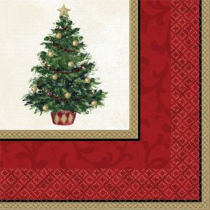 Classic Christmas Tree Dinner Napkins 16ct