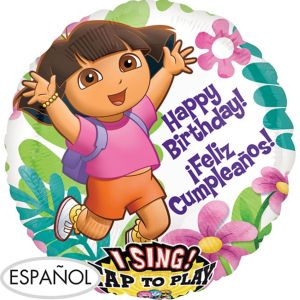 Feliz Cumpleanos Dora the Explorer Balloon - Singing