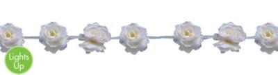 White Rose Garland 6ft