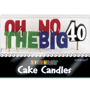 Oh No the Big 40 Birthday Toothpick Candles 11ct
