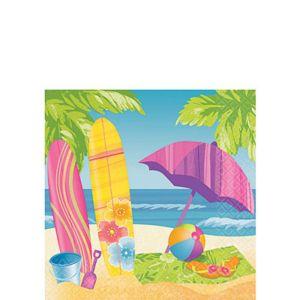 Surf's Up Beverage Napkins 16ct