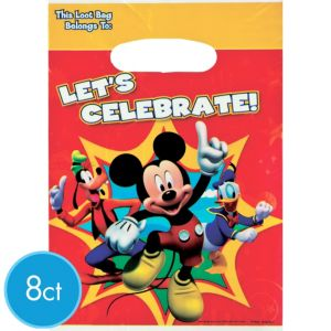 Mickey Mouse Favor Bags 8ct