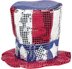 Sequin Uncle Sam Hat
