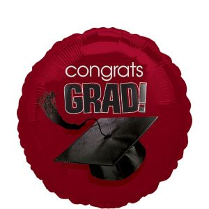 Berry Graduation Balloon - Congrats Grad