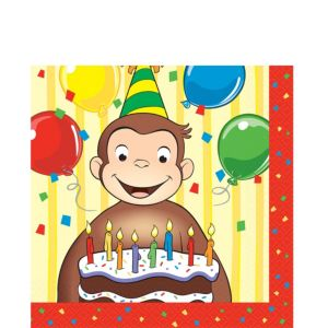 Curious George Lunch Napkins Party City
