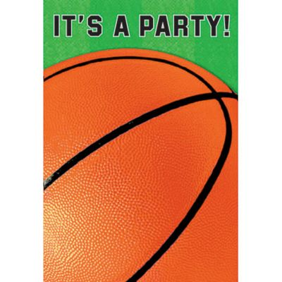Basketball Fan Invitations 8ct