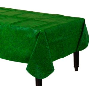 Grass Print Flannel-Backed Vinyl Table Cover