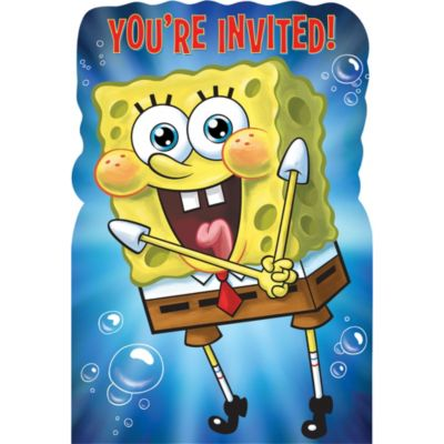 SpongeBob Invitations 8ct