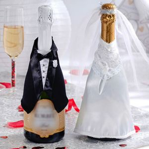 Wedding Celebration Champagne Bottle Covers 3pc
