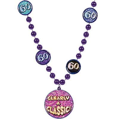 60th Birthday Bead Necklace