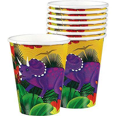 Prehistoric Dinosaurs Cups 8ct