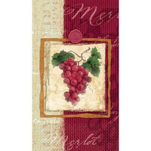 Vineyard Grape Guest Towels 16ct