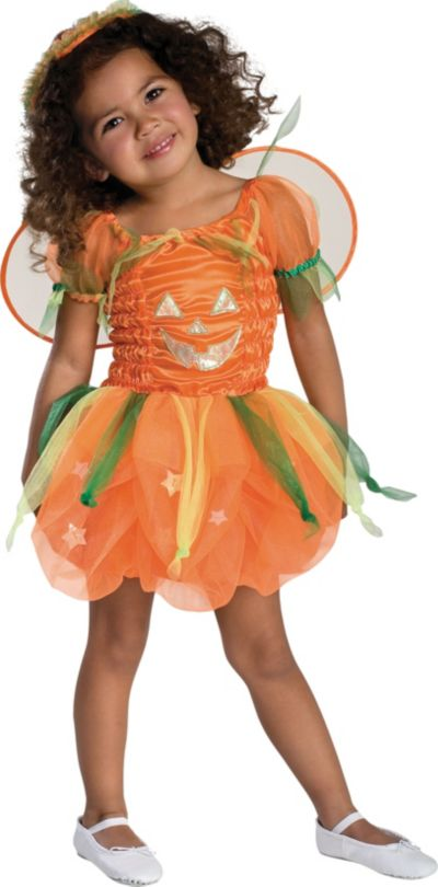 Toddler Girls Pumpkin Pie Fairy Costume