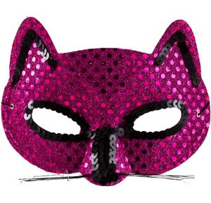 Pink Sequin Cat Mask
