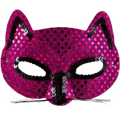 Metallic Pink Cat Mask