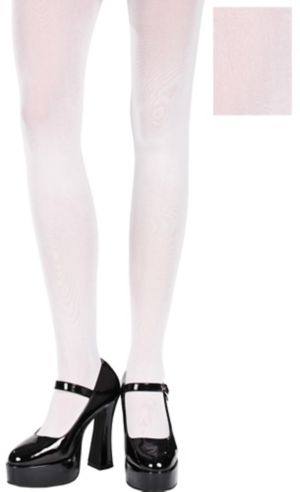 Adult White Seamless Tights