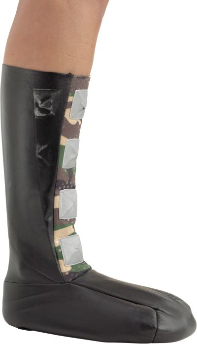 Child Spiked Camouflage Boot Covers