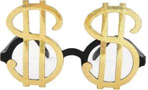 Gold Money Glasses