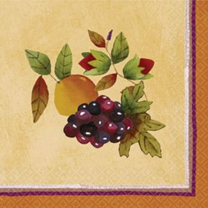 Thanksgiving Medley Beverage Napkins 16ct