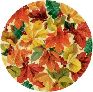 Elegant Leaves Dinner Plates 8ct