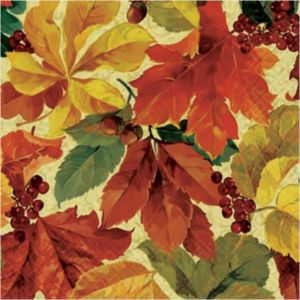 Elegant Leaves Lunch Napkins 16ct