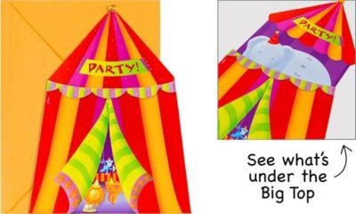 Jumbo Circus Invitations 8ct