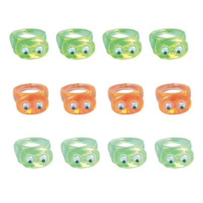 Wiggle Eye Rings 12ct