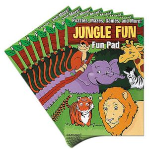 Jungle Animal Fun Activity Pads 8ct