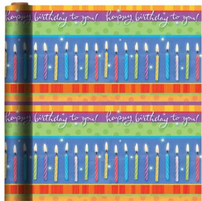 Jumbo Make a Wish Birthday Gift Wrap