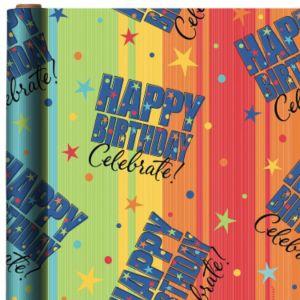 Celebrate Happy Birthday Gift Wrap