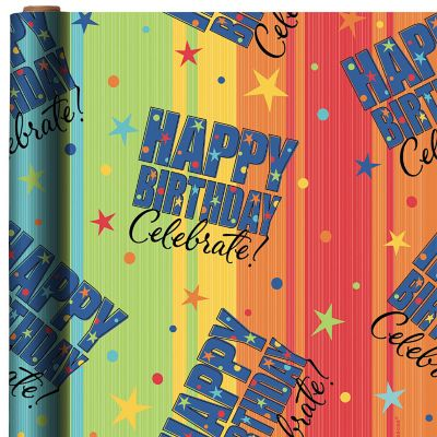 Celebrate Happy Birthday Gift Wrap