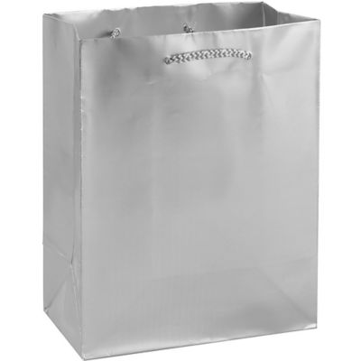 Metallic Silver Gift Bag