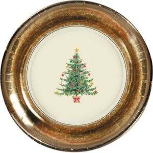 Victorian Tree Dinner Plates 8ct