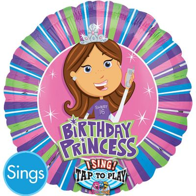 Sweet Sixteen Balloon - Singing Princess